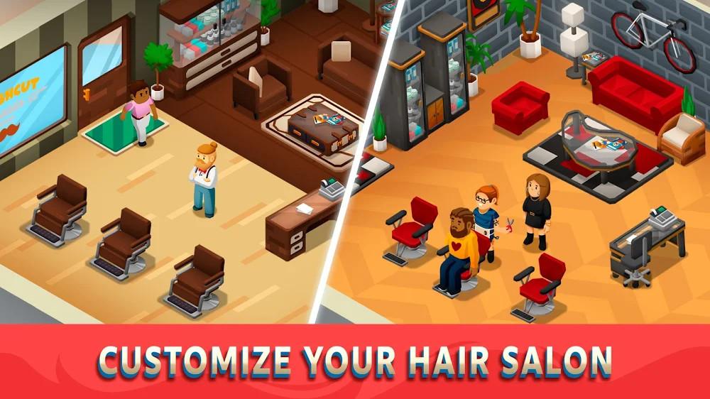 Idle Barber Shop Tycoon Para Hileli MOD APK [v1.0.7] 1