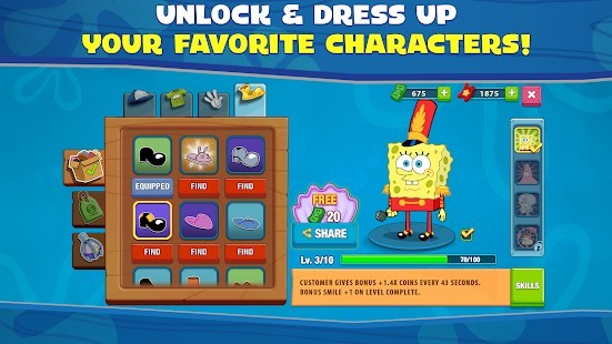 SpongeBob: Krusty Cook-Off v1.0.24 Hileli MOD APK 1